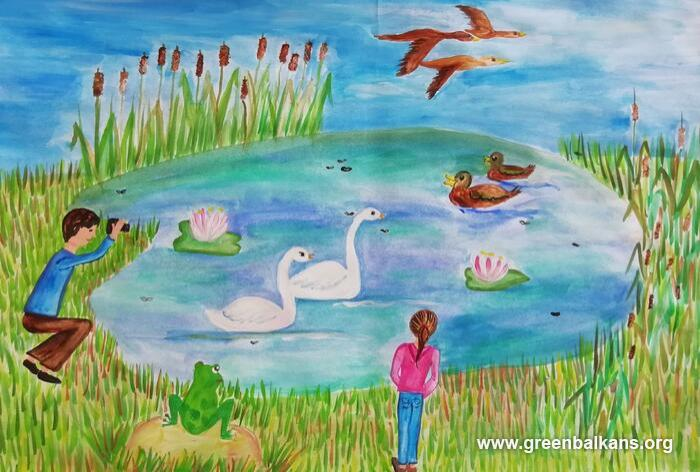 Childrens Drawing Contest 'I protect biodiversity from pollution'