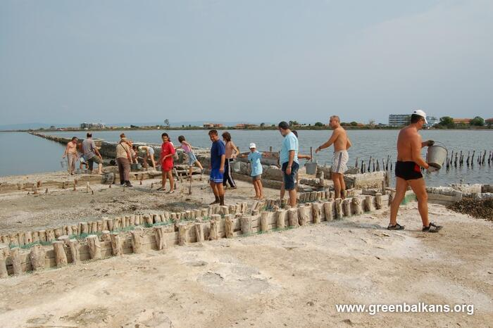 The traditional conservation brigade of Green Balkans in the area of Pomorie Lake