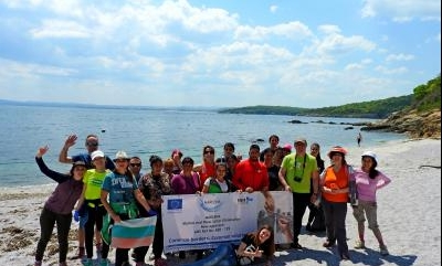 Cleaning of hard-to-reach beaches along the route Ahtopol - Veleka -MARLENA.info